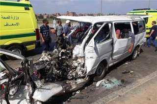 حادث مروع علي طريق الدائري الأقليمي بالمنوفية