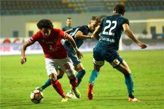 محمد هاني يسجل الهدف الأول للأهلي أمام إنبي