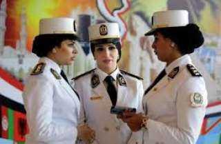 الشرطة النسائية فى خدمة سيدات مصر بمحيط لجان انتخابات الشيوخ