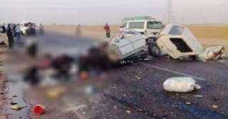 حادث مروع علي طريق صحراوي أسوان.. ومصرع 3 أشخاص