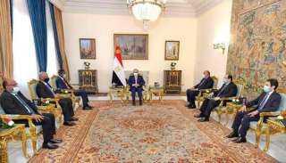 السيسي يستقبل عضو مجلس السيادة الانتقالي السوداني