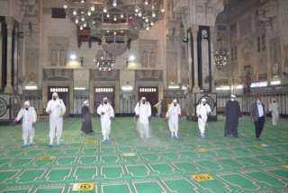 صور: لليوم الرابع على التوالي الأوقاف تواصل نظافة وتعقيم المساجد على مستوى الجمهورية