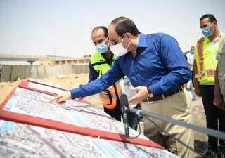 السيسي يقوم بجولة تفقدية لأعمال تطوير عدد من الطرق الجديدة بمنطقة شرق القاهرة