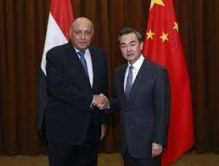 عقد وزير الخارجية سامح شكري جلسة مباحثات رسمية مع نظيره الصيني وانج يّي (صور)