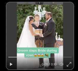 يصفع زوجته أثناء حفل الزفاف في حضور الكاهن.. والسبب غريب