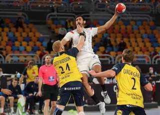 منتخب مصر لكرة اليد يتقدم على السويد في الشوط الأول بأولمبياد طوكيو