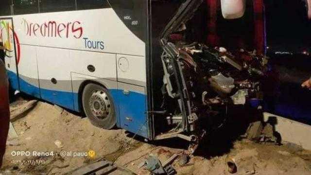 عاجل.. حادث مروع لأتوبيس على طريق الإسكندرية الصحراوي ووقوع إصابات