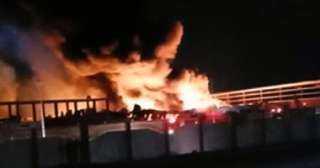 حريق ضخم بأحد مصانع منطقة الاستثمار بالإسماعيلية والحماية المدنية تحاول السيطرة