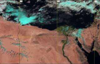 هيئة الأرصاد: وصول أمطار وسحب رعدية الأن داخل السواحل المصرية