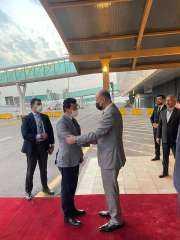 """وزير الشباب والرياضة يصل العراق للمشاركة في احتفالية إعلان """"بغداد عاصمة الشباب العربي"""""""
